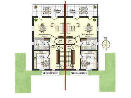 Erstbezug: 4-Zimmer-Wohnung mit großem Balkon in Freiburg St. Georgen
