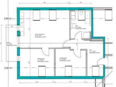 Erstbezug Zentrum Peiting: ansprechende 3-Zim.-DG (2. Stock) mit Balkon und Aufzug