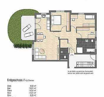 Neubau! Moderne 4,5-Zi.-Whg. mit großem Garten in Betzingen