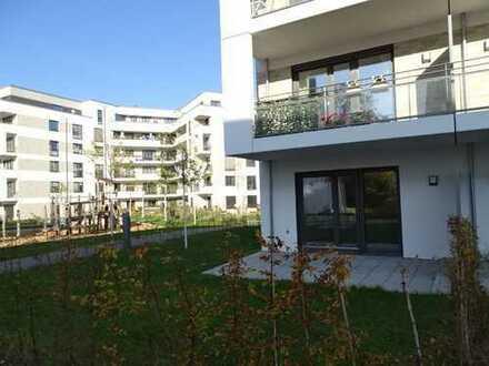 Südstadtgärten, schicke 3 Zi Wohng. mit eigenem Garten! Fußbodenheizung, Rolladen, TG