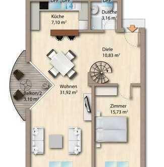 Helle 3-Zimmer-Maisonette-Wohnung mit Balkon in zentraler Lage von Dietzenbach