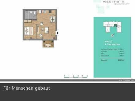 Feinste 2-Zimmerwohnung mit Südbalkon