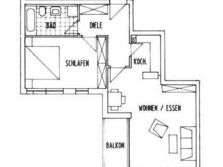 Schöne zwei Zimmer Wohnung in Donau-Ries (Kreis), Donauwörth