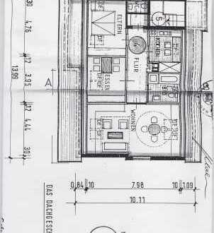 Gepflegte 3-Zimmer-DG-Wohnung mit Terrasse und Einbauküche in Gammertingen