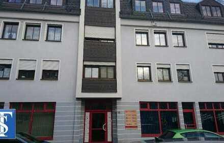 RENDITE! Große vermietete 1-Zimmer-ETW im 1. OG mit Balkon im Zentrum von Plauen
