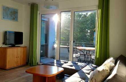 Stilvolle, neuwertige, möblierte 3-Zimmer-Wohnung mit Balkon und EBK in Frankfurt am Main