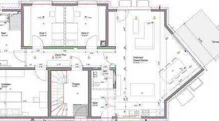 Erstbezug mit EBK und Balkon: schöne 4-Zimmer-Erdgeschosswohnung in Herrenberg