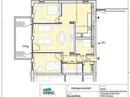94m² gr. Wohnung in Duisburg/ Dellviertel