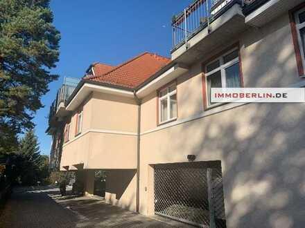 IMMOBERLIN.DE - Perfekt im Berliner Speckgürtel! Helle vermietete Wohnung mit großer Westterrasse