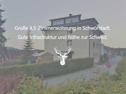 Große 4,5-Zimmerwohnung in Schwörstadt. Gute Infrastruktur und Nähe zur Schweiz.