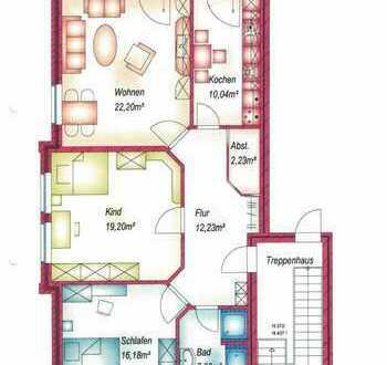 Schöne, geräumige drei Zimmer Wohnung in Emsland (Kreis), Meppen