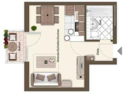 Moderne 1-Zimmer-Wohnung in Top Lage Deggendorf inkl. TG und Küche