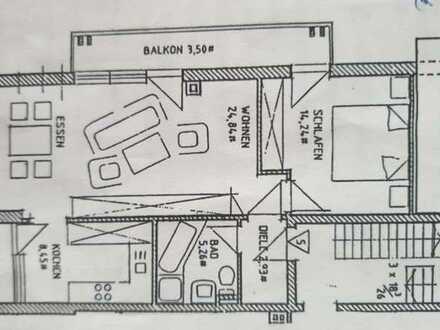 Stilvolle, gepflegte 3-Zimmer-Maisonette-Wohnung mit Balkon und EBK in Graben