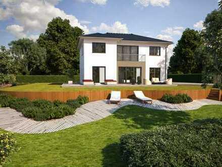 Mediterane Villa Fix und Fertig in KFW 40+ am Rande der Rheinauen