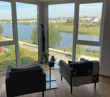 Neuwertige, exclusive 5-Zimmer-Wohnung mit. 3 Balkonen, 1.Reihe Phönixsee