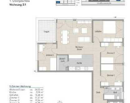 Exklusive 5-Zimmer-Wohnung mit Balkon und Einbauküche in Tübingen