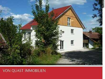 NEUBAU, Rohbau fertig gestellt: sehr schöne DHH in Obermühlhausen