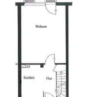 Kleines Reihenhaus - wie 3-Zimmer Wohnung mit Keller, Dachboden und Garten