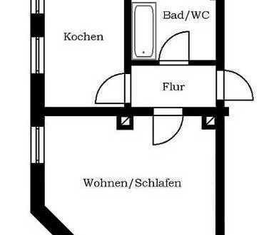 kleine 1-Raum Erdgeschosswohnung