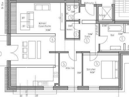 3 Zimmer Dachgeschosswohnung mit 2 Tiefgaragenplätzen (Wohnung Nr. 5)