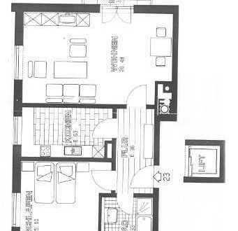 Gepflegte 2-Zimmer-Wohnung mit Balkon in Mering