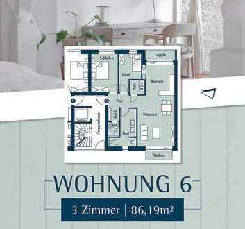 Feine 3 Zimmerwohnung im 1.OG direkt am Klostergarten in Husum