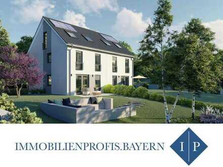 Neubau: Doppelhaushälfte auf herrlichem Grundstück in Südausrichtung! MUC Pendler aufgepasst..