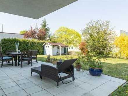 !!Hochwertige EG-Wohnung in Bischofsheim mit eigenem großzügigem Garten & Rundum-Sorglos-Paket!!
