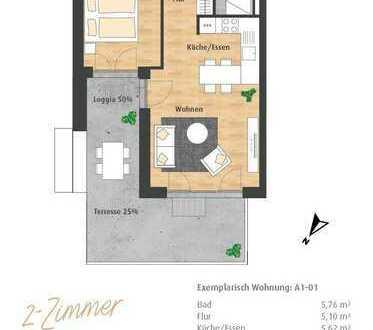 Neubau 2-Zimmer-ETW mit Loggia im Hatz-Areal - Das Tor zur Innenstadt