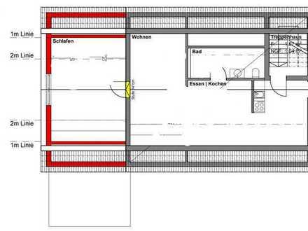 Gepflegte 2-Raum-Dachgeschosswohnung mit Balkon und Einbauküche in Salem