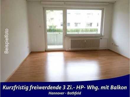 Bothfeld - kurzfristig freiwerdende, schöne 3Zi.-Whg. HP mit Südbalkon