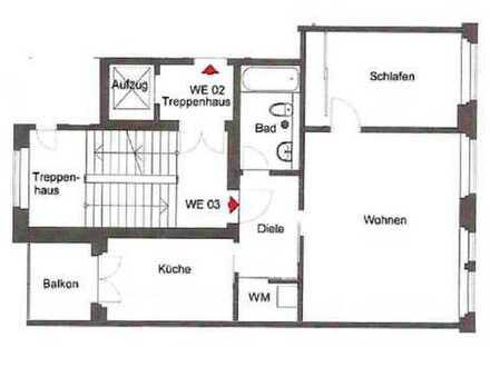 Schöne 2-Raum-Wohnung mit Parkett, Badewanne und Balkon in Gohlis