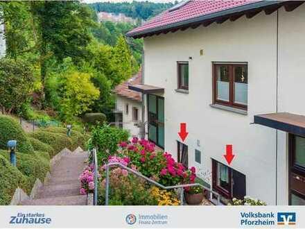 Schicke Wohnung auf 2 Ebenen m. Aussicht u. Garten!