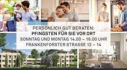 Süd-West-Balkon mit Fernblick in Höhenhaus. Erstbezug in 100 m²/ 4-Zimmer Wohnoase.