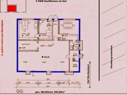 Büro, Lager und Werkstatt vom Eigentümer zu vermieten, ideal für Handwerker.