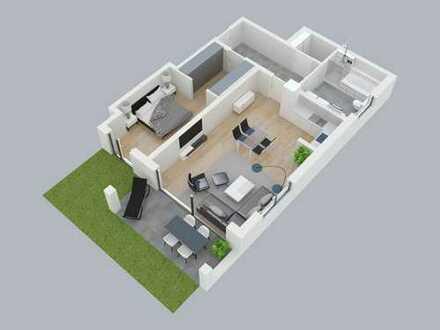 Schönes Wohnen - Neubau-2-1/2-Zimmerwohnung an den Obernauer Mainhöhen