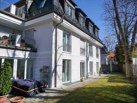 Bestes Harlaching, über der Isar- luxuriöse Gartenwohnung mit großem Gartenanteil- 208 qm- ruhig