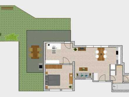 Ruhige 2-Zi-Wohnung, S-Bahn-nah, mit großer Terrasse+Garten