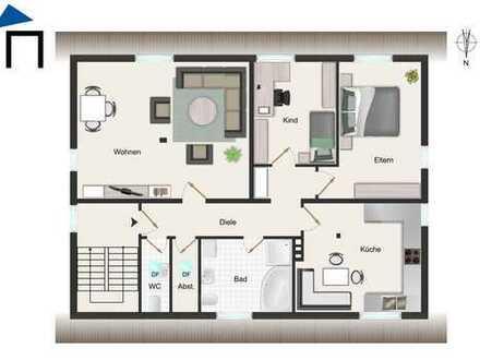 Wunderschöne helle 3-Zimmer-Dachgeschosswohnung mit herrlichem Ausblick in ruhiger zentralen Lage