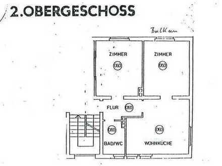 Gepflegte 2,5-Zimmer-Wohnung mit Balkon und Einbauküche in Hemer