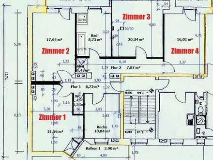 Provionsfrei-Altbau 4 Zimmer-Innenstadt-fußläufig-gr. Balkone