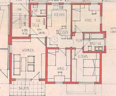 Helle, gepflegte 4-Zimmer-Etagenwohnung mit Südbalkon in Leutenbach