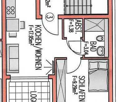 Schöne 2-Zimmer-Wohnung mit Balkon und EBK in Dettingen