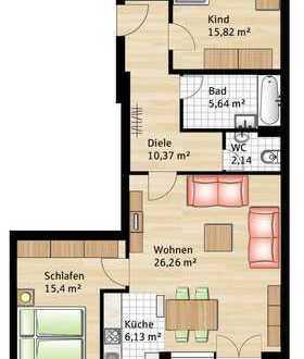 3-Zimmer-Wohnung in Landsberg