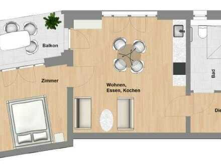 Schlüchtern-SeniorenWohnen: 2 Zimmer-Wohnung mit Balkon im Erstbezug - TYP 56