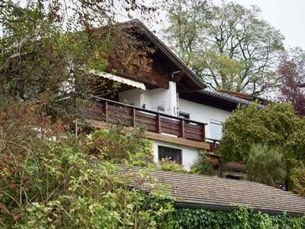 Traumhaus in sonniger Hanglage! Unverbaubarer Blick auf 80 km Alpenpanorama, Traunstein-Traunreut