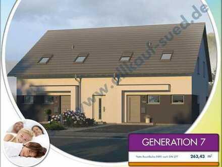 Generationen-Haus für 2 Familien, inkl. Bauplatz u 2 Garagen