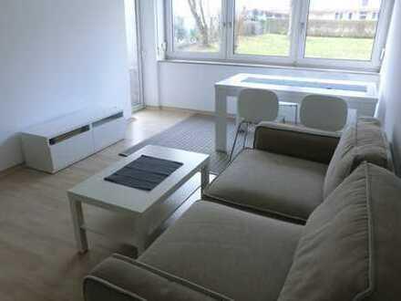 ### vollständig möblierte 2,5-Zimmer Wohnung + E-Geräte + Balkon mit Blick ins Grüne ###