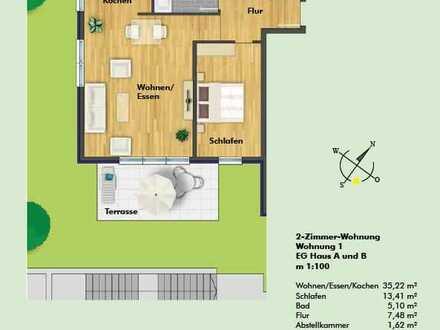 Neuwertige, schöne und lichtdurchflutete 2-Zi. Wohnung mit Balkon in Wiesloch