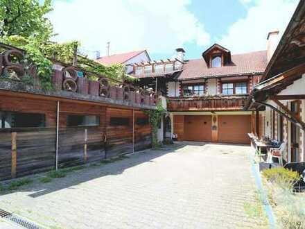 Einfamilienhaus mit separater Wohnung und Werkstatt